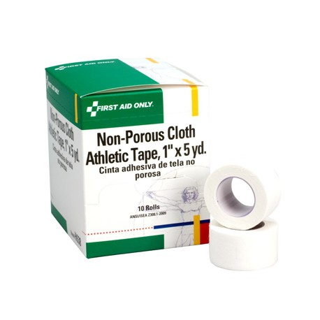 "1""x5 yd. Non-porous cloth athletic tape - 10 per box"