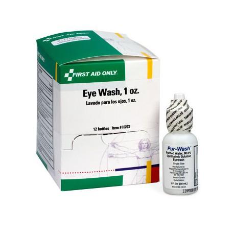 Eye wash, 1 oz. plastic bottle with twist off tabs - 12 per box/Case of 12 @ $28.49 ea.