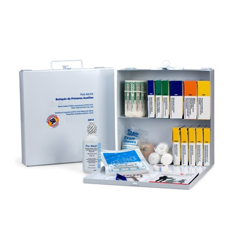 50 Person Bulk First Aid Kit - metal/Case of 6 @ $57.00 ea.