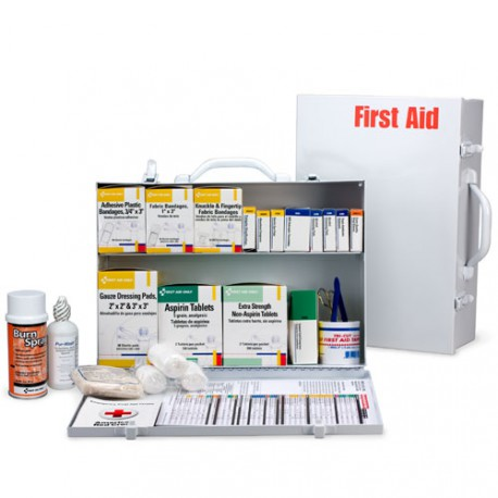 2 Shelf Industrial First Aid Station w/ pkt liner