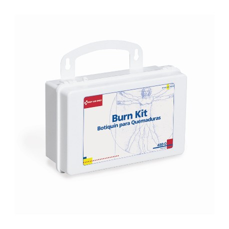 10 Unit Burn First Aid Kit - plastic