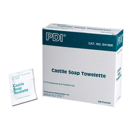 """5""""x7"""" Castile soap towelette - 100 per box"""