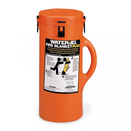 6'x5' Water-Jel® Fire Blanket-Plus in canister