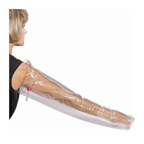 Inflatable, plastic full arm air splint, 32""