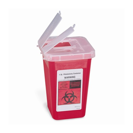1 qt. Sharps container, red