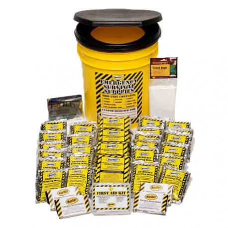 Economy Emergency Kit-4 Person - Honey Bucket