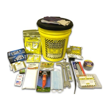 Deluxe Emergency Kit- 2 Person  - Honey Bucket Kit