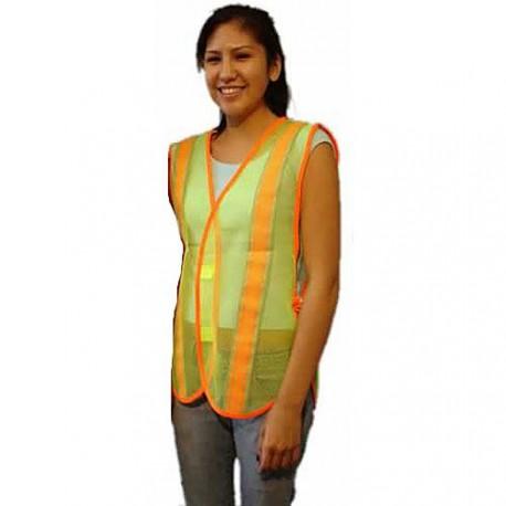 Safety Vest-Lime Green w/ReflectTape
