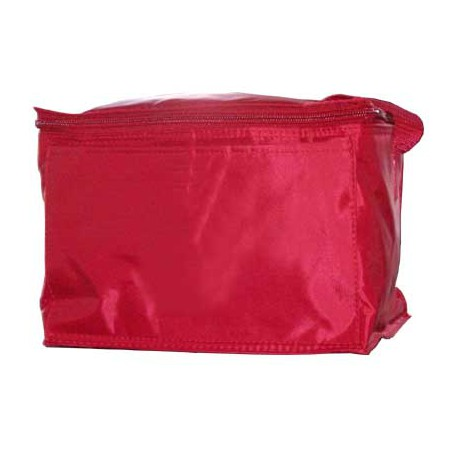Red Vinyl Cooler Bag with Handle – without Lettering