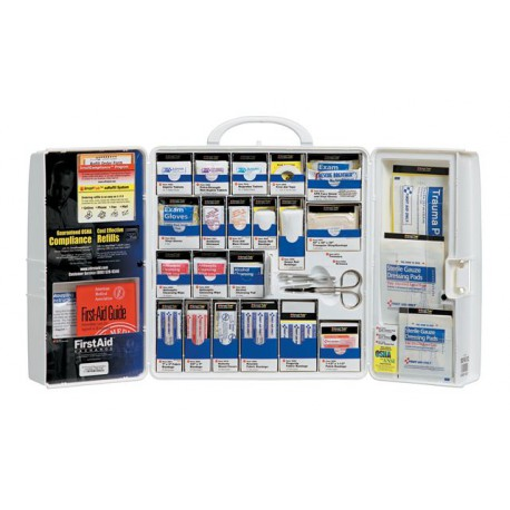 Guaranteed OSHA Compliance Food Industry first aid cabinet w/ oral meds