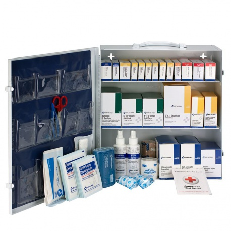 3 Shelf First Aid ANSI B+ Metal Cabinet, without Meds