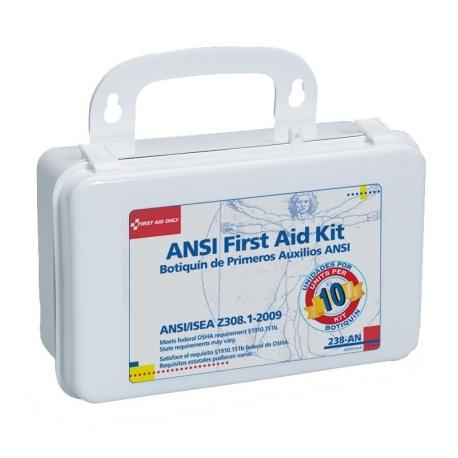 10 Unit, 46 piece unitized ANSI kit, plastic case w/ gasket