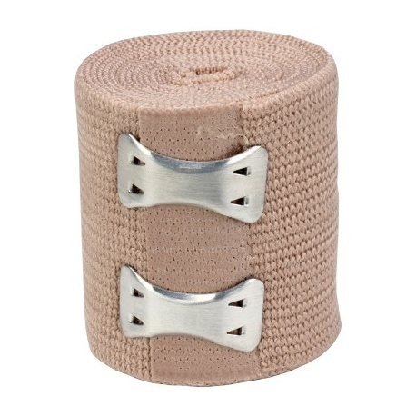 "2""x5 yd. Latex free elastic bandage with fasteners"