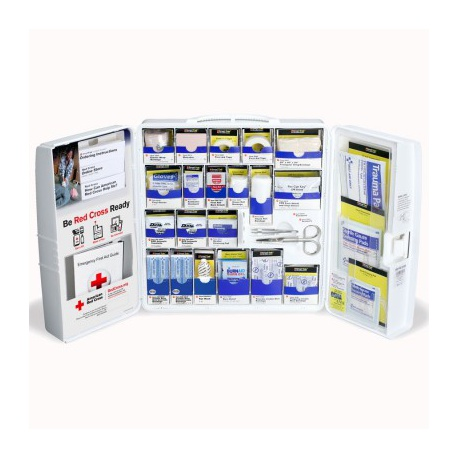 American Red Cross Large Food Industry First Aid Cabinet with SmartTab