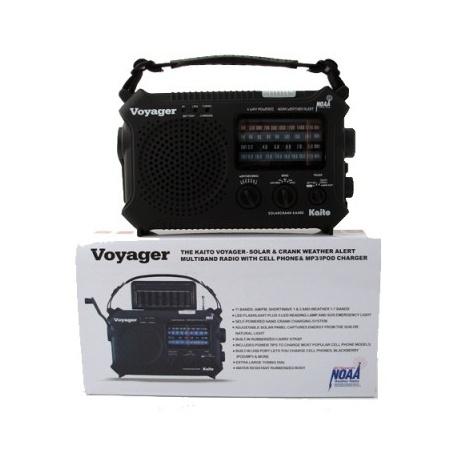 The Kaito Voyager - Solar & Crank Weather Alert Radio