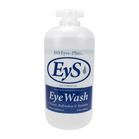 Eye wash, 32 oz. plastic bottle, screw top, $12.87 EA 12 per case