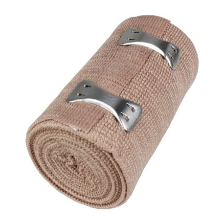 "3""x5 yd. Latex free elastic bandage with fasteners"