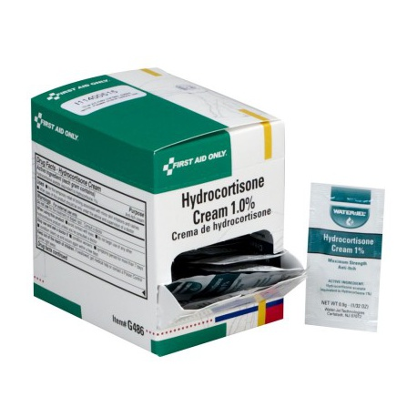 1% Hydrocortisone Cream USP, .9 gm pack - 25 per box/Case of 18 $4.30 each