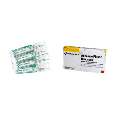 Adhesive plastic bandage, 10 bx/$1.37 each