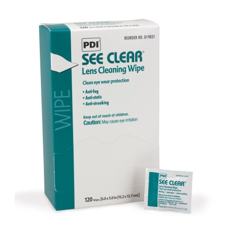 See Clear® eyeglass cleaning wipe - 120 bx