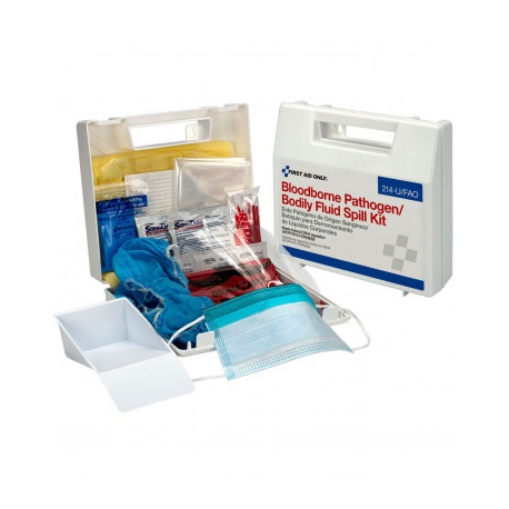 Bloodborne Pathogen and Bodily Fluid Spill Kit - 24 Pieces - Plastic/Case of 10 $15.80 each.